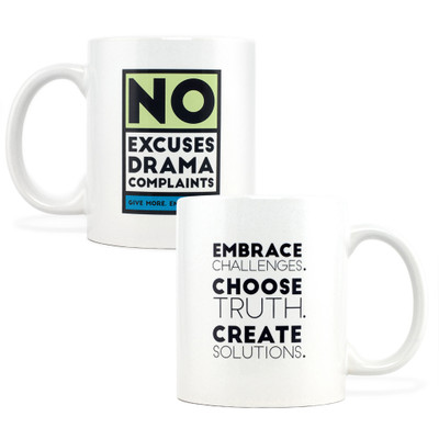 No Excuses, Drama, Complaints Mug (11oz Green)