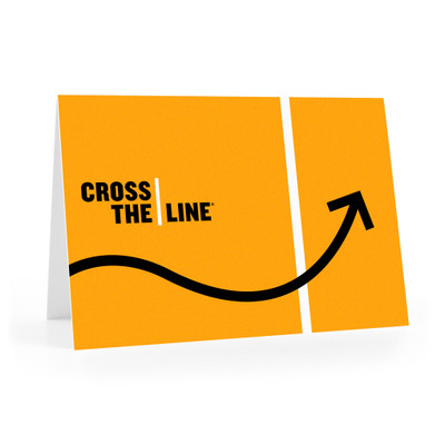 Cross The Line Notecards (arrow)
