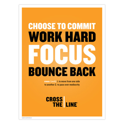 Cross The Line 18 in. x 24 in. Poster (orange)