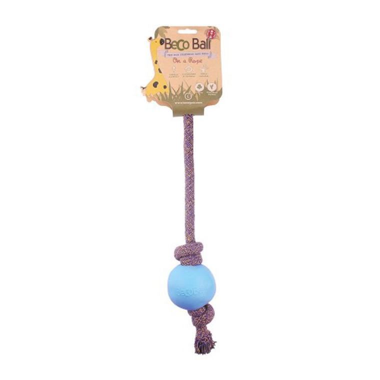 Beco Ball on Rope Blue