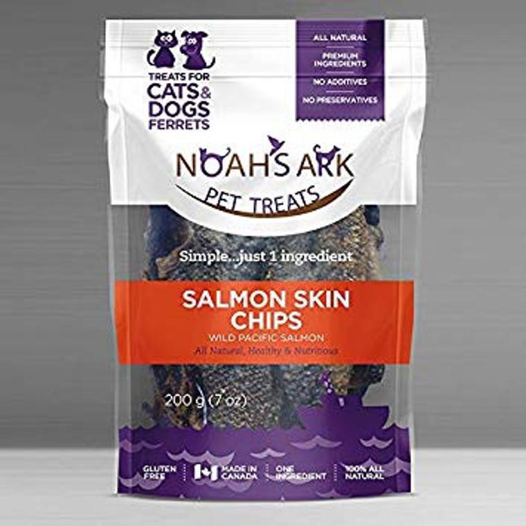 Noahs Salmon Skin Chips 200g