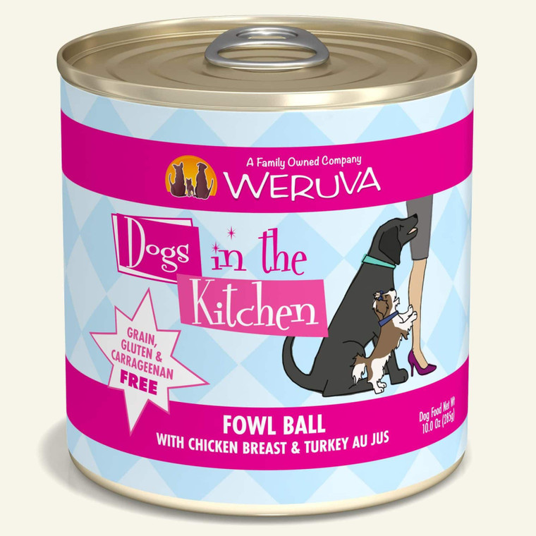 Dogs in the Kitchen Fowl Ball 10oz Can
