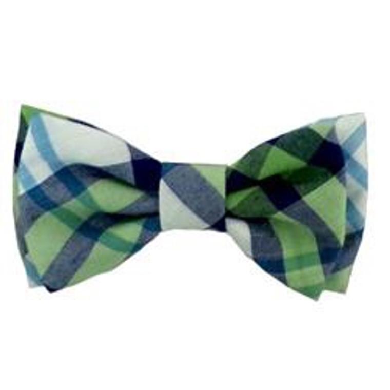 Huxley & Kent Bow Tie Lime Madras