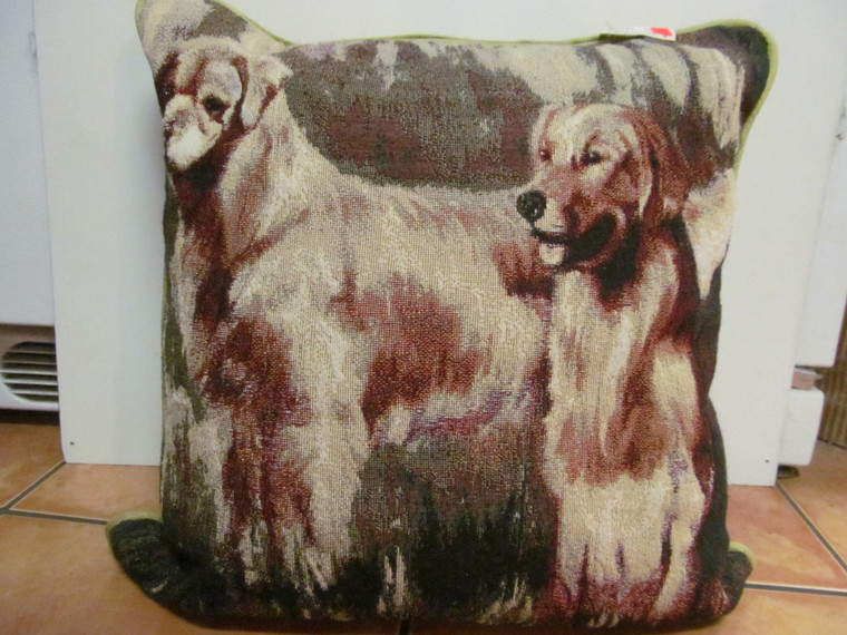 Needlework Pillow Golden Retriever