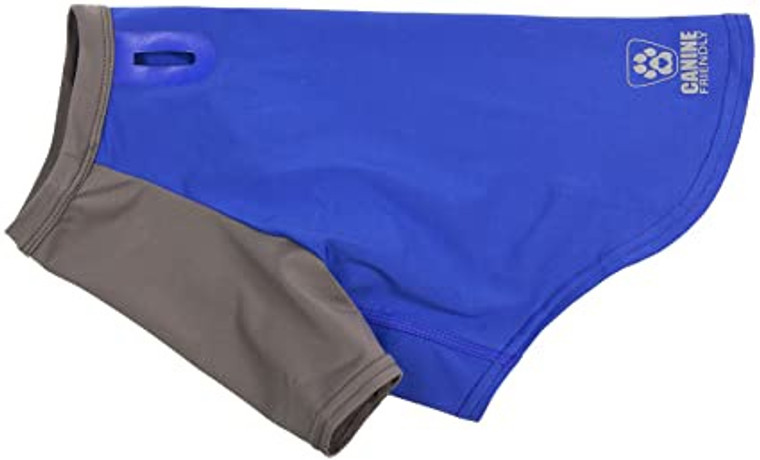 Canine Friendly Solis UV Coverup Electric Blue/Charcoal