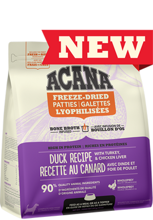 Acana Freeze-Dried Duck Patties 397g