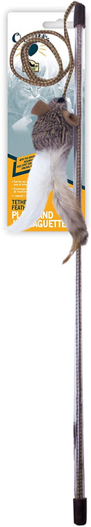 OurPets Tethered&Feathered Play Wand