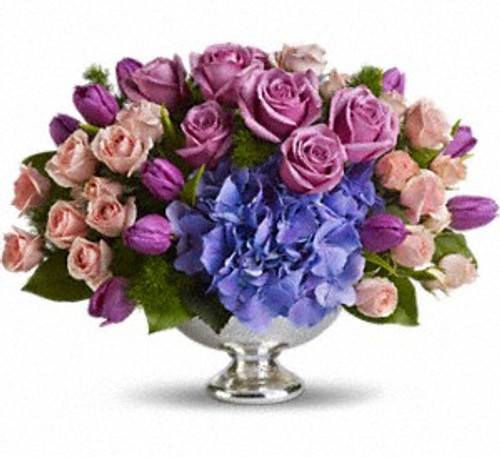 Purple Elegance Centerpiece
