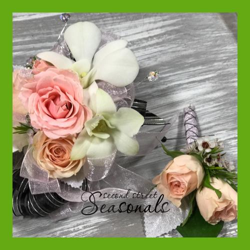 Orchids & Roses Corsage & Boutonnière