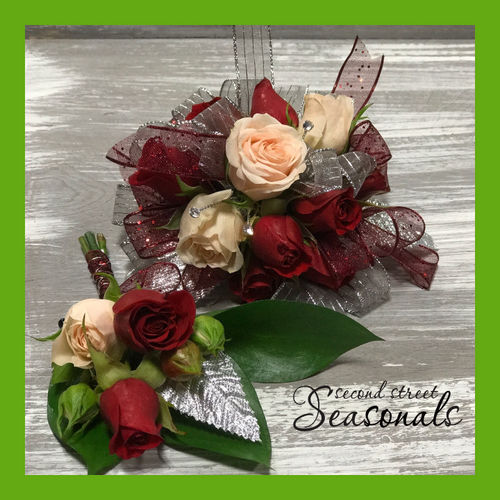 Rose Buds Corsage & Boutonnière