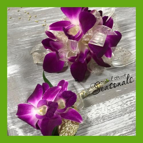 Dendrobium Orchids Corsage & Boutonnière