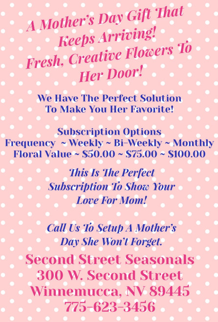 Mother's Day Subscription! ~ Call To Order Only ~
