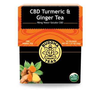 CBD Tumeric and Ginger Tea (Buddha Teas)