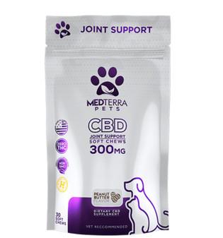 Medterra CBD Pet Joint Support Chews - 300mg Peanut Butter Flavor