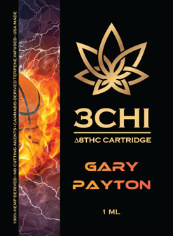 3 CHI Delta-8 Vape Cartridge 1ml - Gary Payton