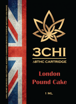 3 CHI Delta-8 Vape Cartridge 1ml - London Pound Cake