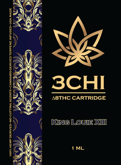 3 CHI Delta-8 Vape Cartridge 1ml - King Louis XIII