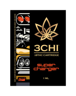 3 CHI Delta-8 Vape Cartridge 1ml - Super Charger (Indica/Hybrid)