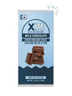 XITE Delta-8 Milk Chocolate Bar - 300mg