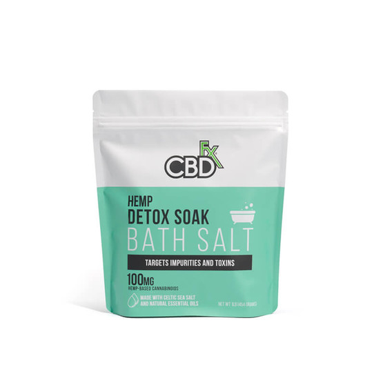 CBDfx Bath Salt - Detox Soak - 100mg