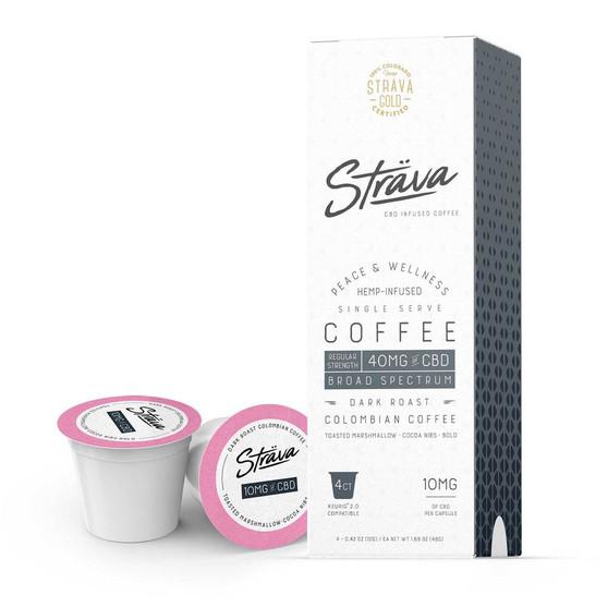 Sträva Gold CBD Infused Coffee K-Cups - 10mg per serving (Dark Roast)