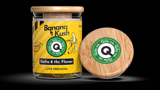 Qilo Co Delta-8 Flower 7 grams - Banana Kush