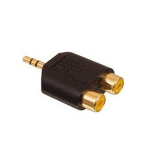 3.5mm TO 2-RCA adaptor .GOLD