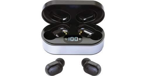 PM1050B PLATINET Bluetooth Sport Earphones with HD Microphone and extra power pack. Color: Black