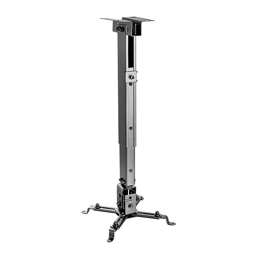 """HEIGHT ADJUSTABLE SOLID CEILING PROJECTOR BRACKET PRB-2 Extension Range:430~650mm (16.9""""~25.6"""") The PRB-2 is a solid steel ceiling bracket for most projectors up to 20kgs/44lbs. It offers flexible projector positioning with four adjustable support arms that can fit a wide range of mounting holes. The quick release connector allows the projector to be installed."""
