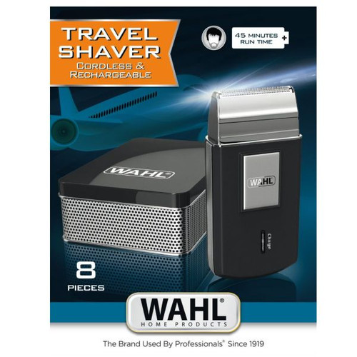 TRAVEL SHAVER CORDLESS & RECHARGEABLE 45MINUTES RUN TIME