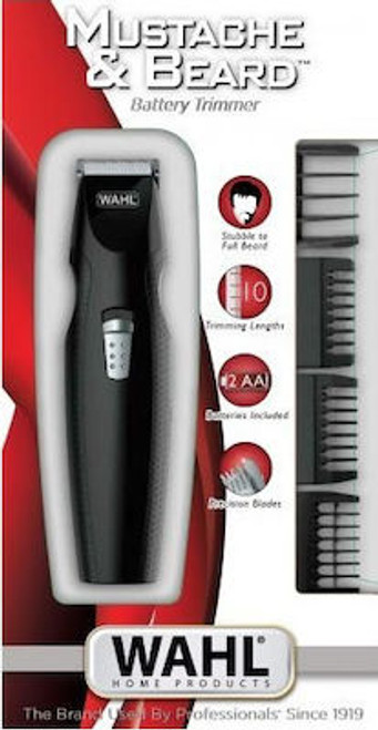 WAHL-5606-508 Mustache & Beard trimmer. 2xAA Standard battery