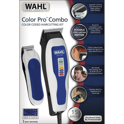 WAHL-1395-0465 WAHL Color Pro Combo. Color Coded Haircutting Kit.