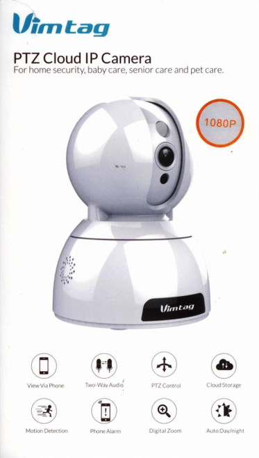 WI-FI WIRELESS CAMERA PTZ CLOUD IP CAMERA HI-FI 2,4GB CONNECTIVITY MOTION DETECTION VIEW VIA PHONE MICRO SD CARD UP TO128GB(NOT INCLUDED)