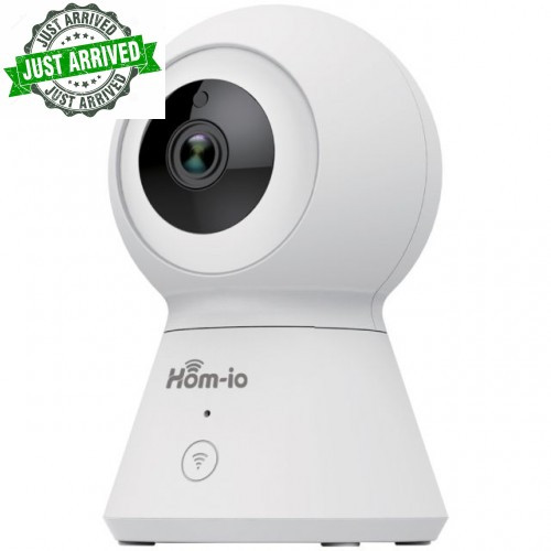 HOM-IO SMART CAMERA WIFI MOTION 1080P (CLOUD-SD CARD) SMART65641 Hom-io line wi-fi camera, elegant and modern design, full compatibility with the hom-io app and can be integrated into scenarios and automation! compatible with alexa and google assistance.  * 1080p full hd * 50hz: 25fps @ 1080p * two-way audio * motion detection and autotraking * night-time ir range 8/10 meters * app: hom-io * recording on micro sd (64gb) and cloud * amazon alexa and google home
