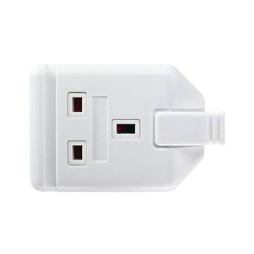 Permaplug ELS13W Extension Socket 1Gang White Rubber
