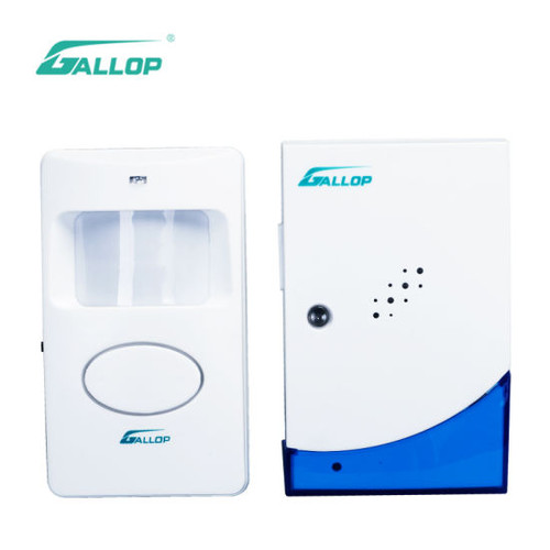 Wireless Visitor Chime & PIR Motion Sensor Doorbell for Security Alarm System