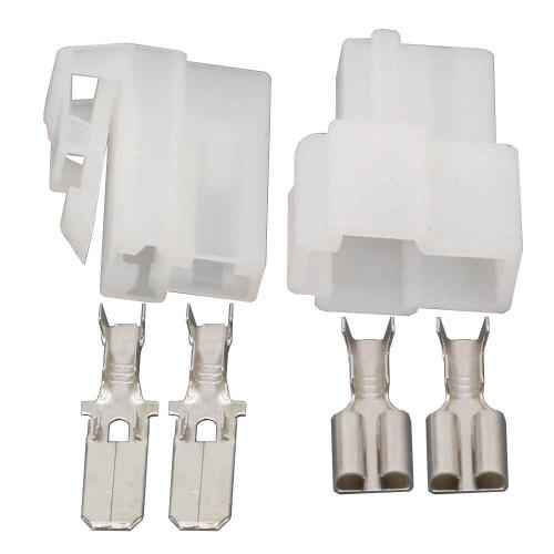 2-pcs set 2pin automotive plastic housing with 4pin(2male-2female)