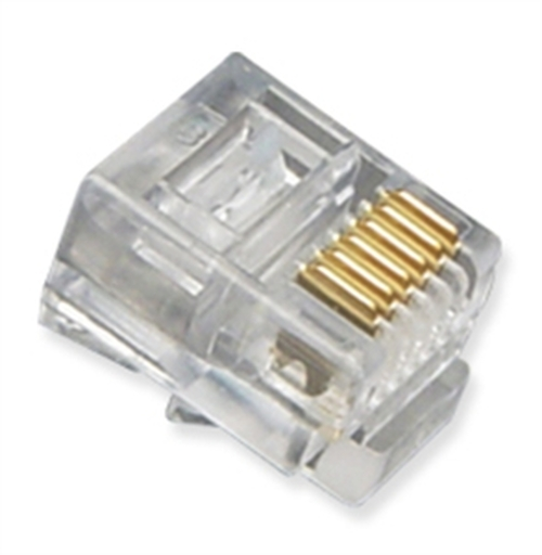 RJ11 6P6C Telephone wire Plug 6-pin