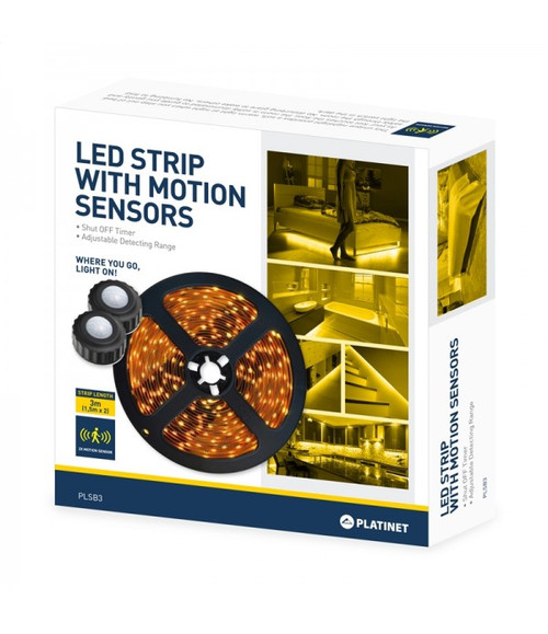 PLATINET LED Strip 90 LEDs, with 2 Motion Sensors - 3 m (2 x 1,5 m)