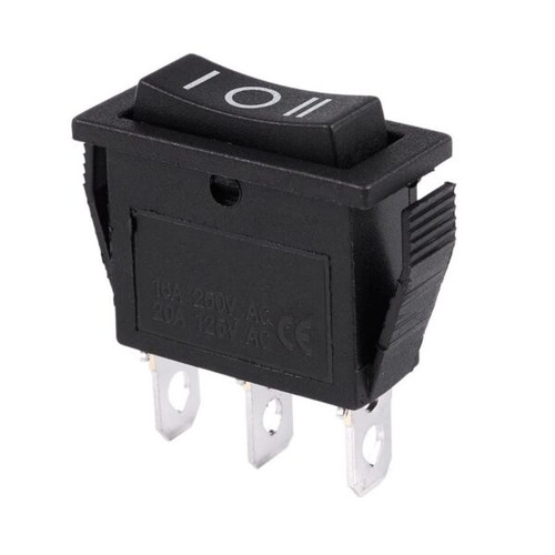 Single Pole Double Throw Center-Off Rocker Switch