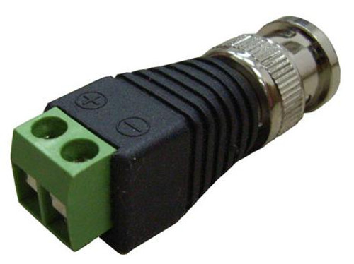 BNC plug  with screws, shrink not necessary