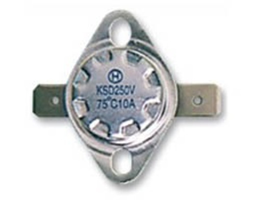 BI-METAL THERMOSTAT WITH HORIZONTAL CONNECTORS Φ15.8 SCREW-MOUNT 145°C 10A/250V NORMALLY CLOSED