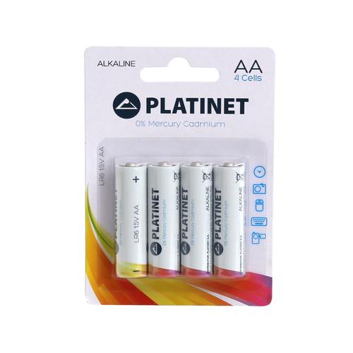 PLATINET Battery Alkaline 4x AA / LR06 / 1.5V