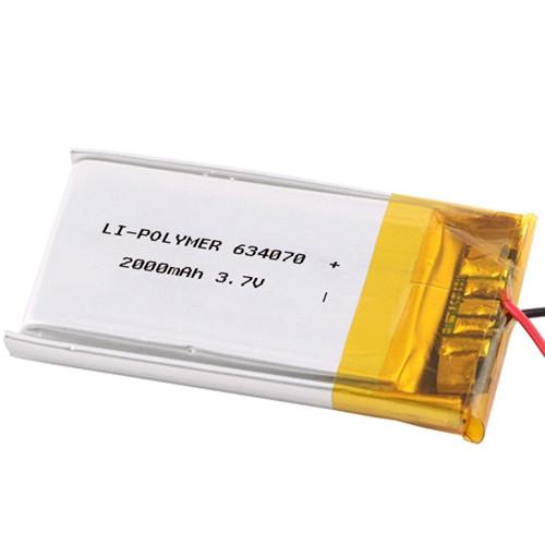 EWT LP554070 Lithium Polymer RE-Battery LIPO 3V7/2000mAh