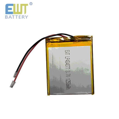 EWT Lithium Polymer LP404077 3.7V/1250mAh LIPO Battery with Connector