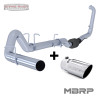 "S6212PLM T5051 - MBRP 4"" EXHAUST 03-07 FORD POWERSTROKE DIESEL 6.0L F250 F350 NO MUFFLER WITH TIP"