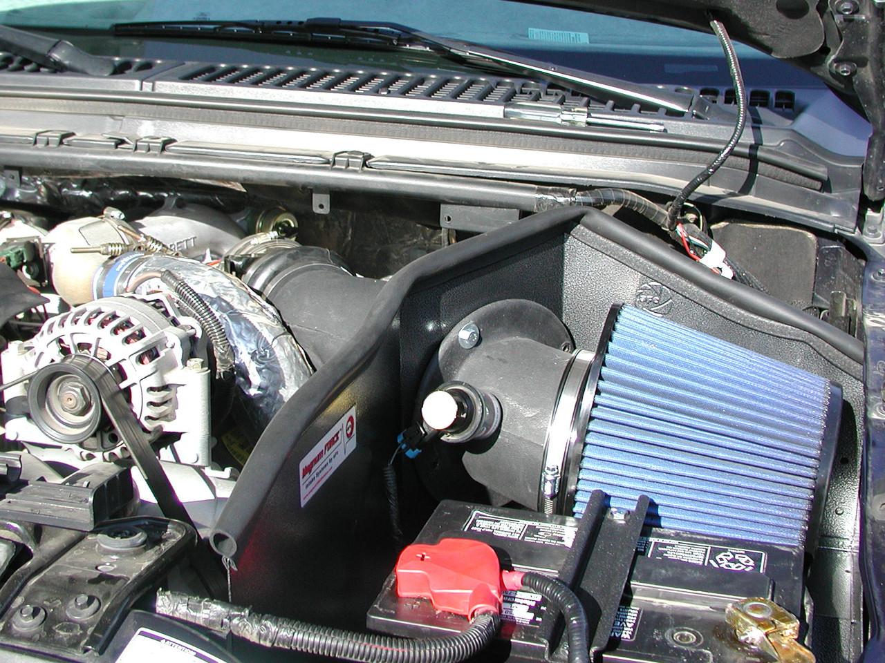 BLACK Filter 99-03 Ford Excursion F250//F350 7.3L Heat Shield Air Intake Kit