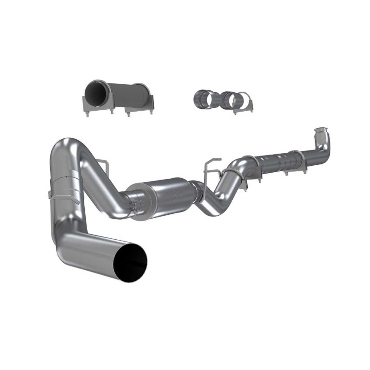 """MBRP 4"""" EXHAUST 01-07 CHEVY GMC DURAMAX DIESEL 6.6L LB7 LLY LBZ W STAINLESS TIP - S6004P T5051"""