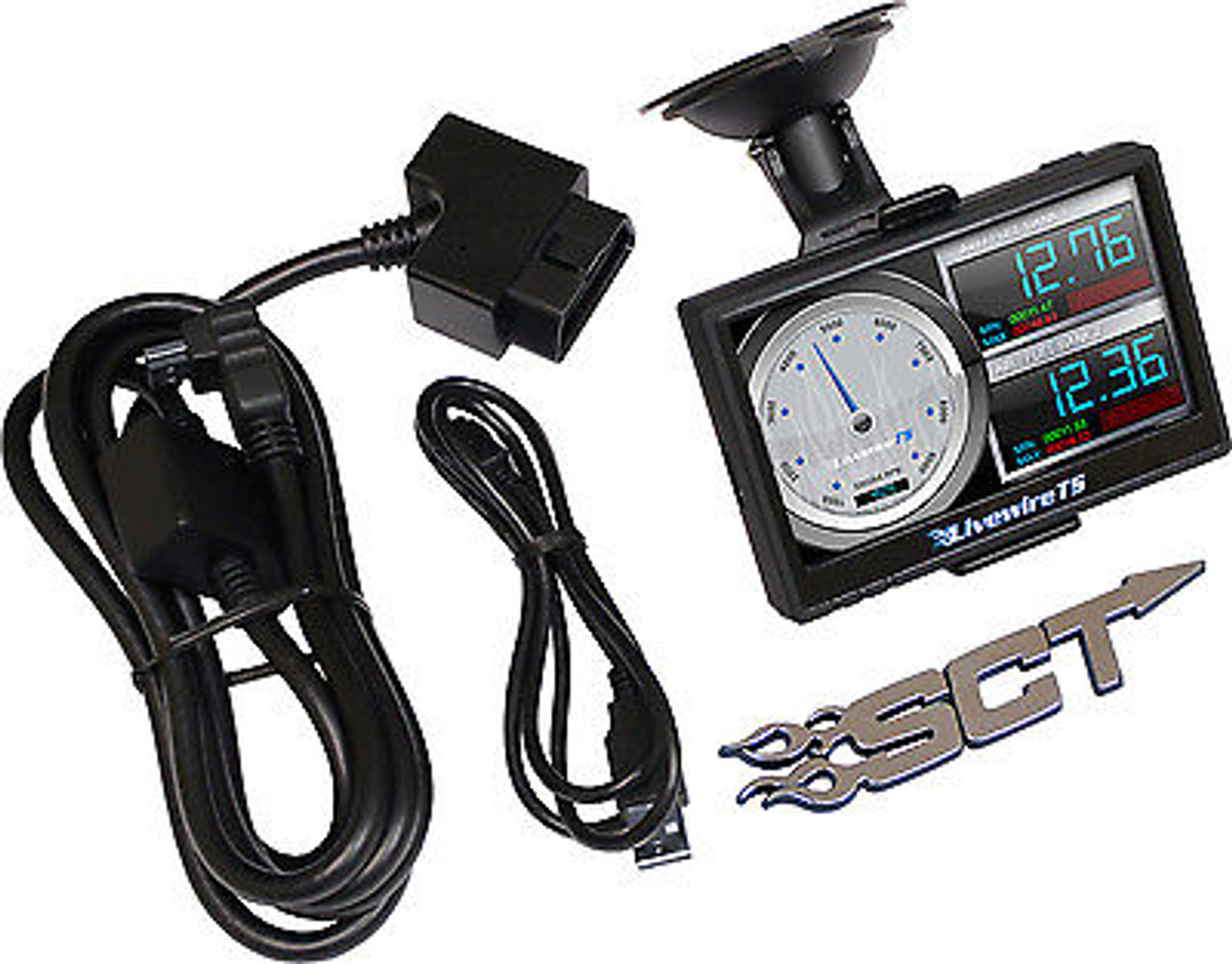 5015 9817 - SCT LIVEWIRE TS PERFORMANCE TUNER MONITOR PROGRAMMER FORD GAS DIESEL W PYROMETER