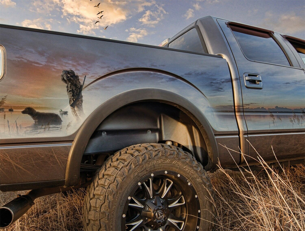 Husky Liners 79061 For 19-20 Chevy Silverado 1500 New Body Rear Wheel Well Guard